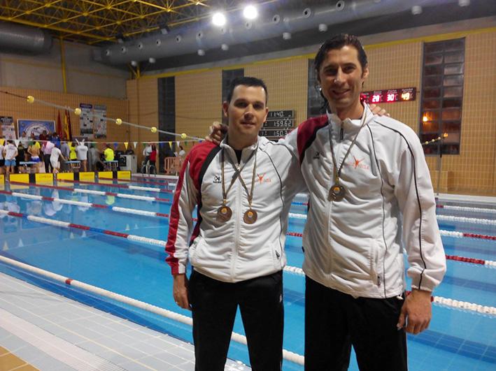 medallas para los nadadores