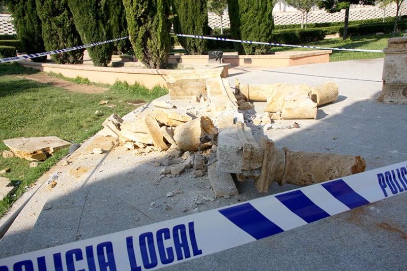 actos vandálicos en el cespín