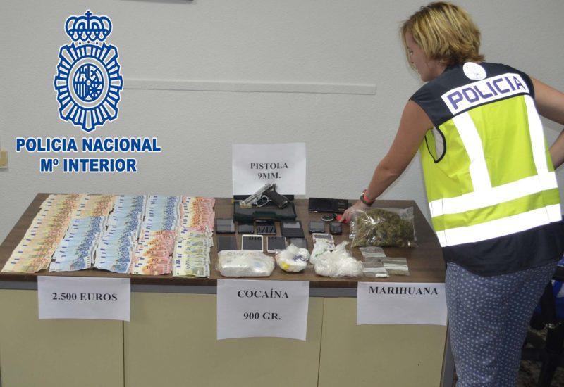 siete detenidos policía