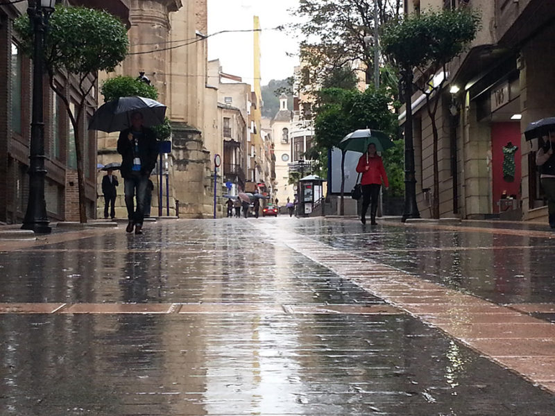lluvia yecla