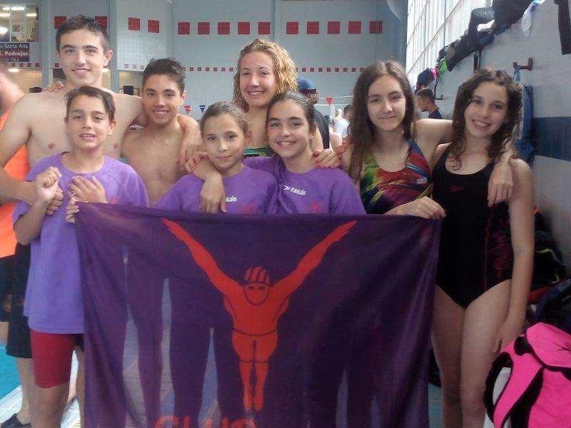 nadadores yecla dos podios club natacion yecla