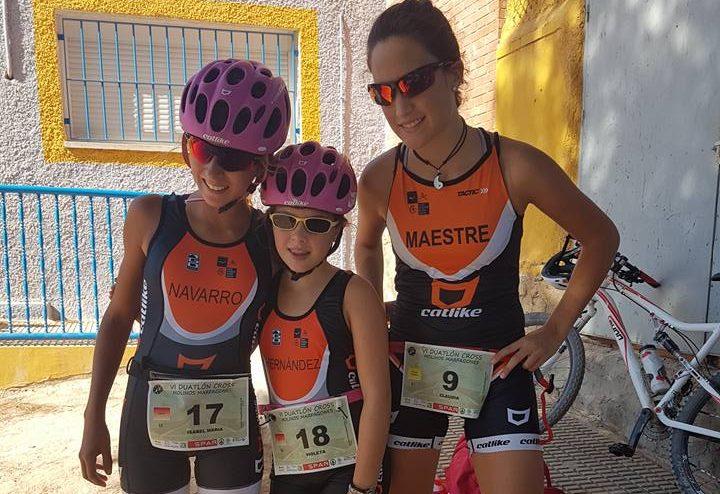 isabel-violeta-y-claudia chicas triatletas yecla