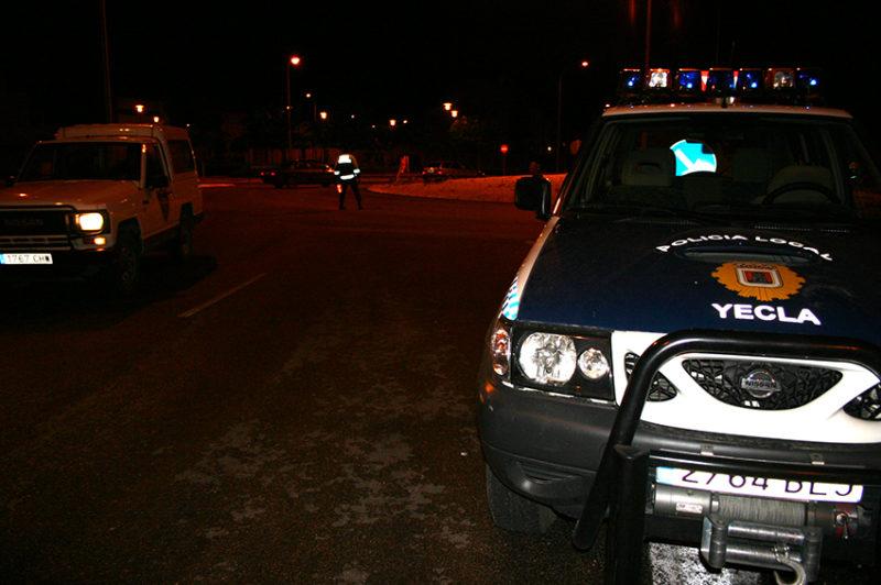 borracho control policía
