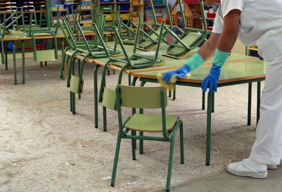 limpieza colegio clece fampa