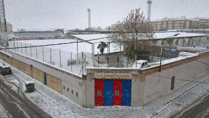 jornada deportiva campo del yeclano temporal nieve