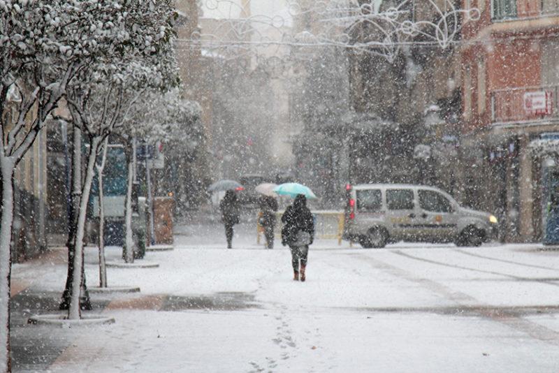 falta de previsión nevada