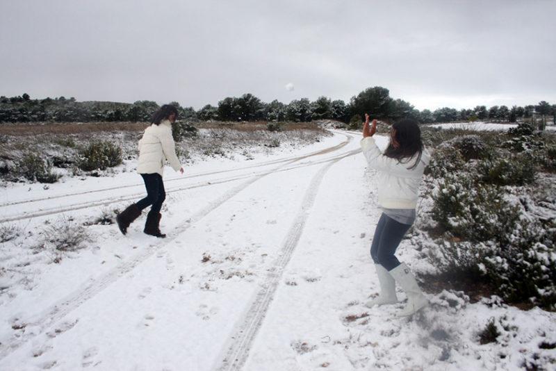 frío y nieve