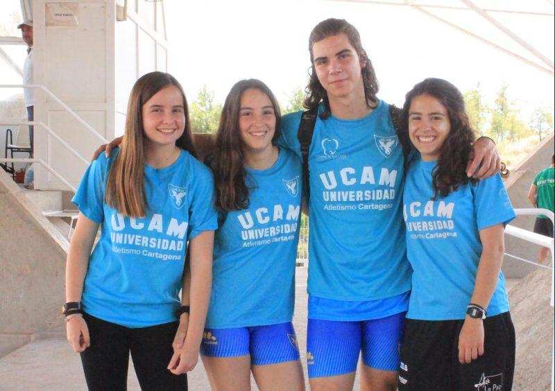 Arianna, Maria Jose, Rafael y Lorena - Campeonato de España Clubes Junior