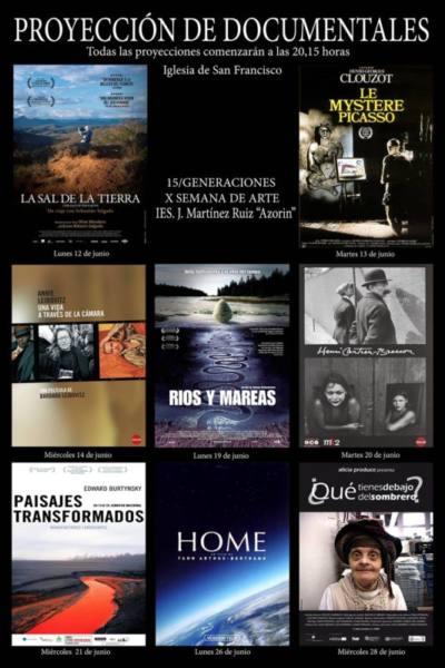 semana arte ies azorin ciclo documentales