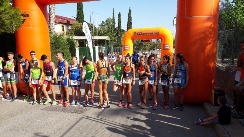 club triatlon arabi yecla SALIDA INFANTIL-CADETE FEMENINA