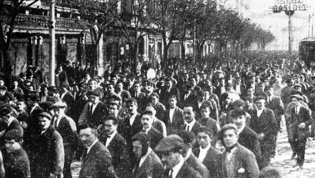 La huelga de 1917 se siguió masivamente en Barcelona