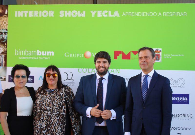 inauguración feria del mueble de yecla Lopez Miras