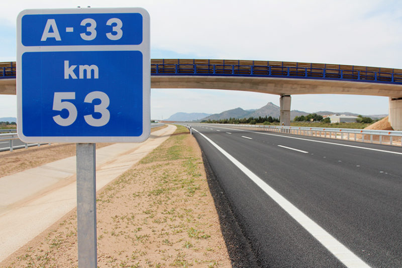 autovía A-33 jumilla yecla empresas