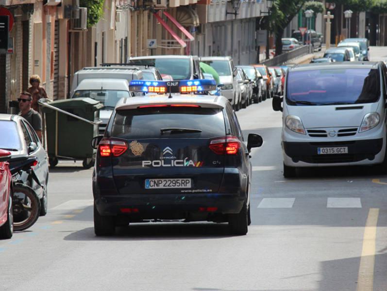 policía nacional tracto-camiones