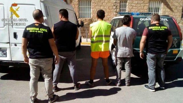 detenidos robos con fuerza