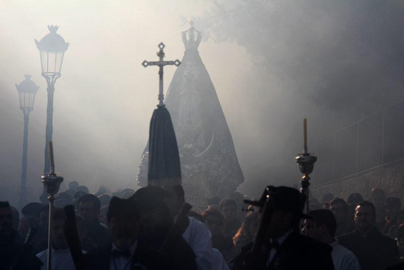 Fiestas Virgen niebla bajada