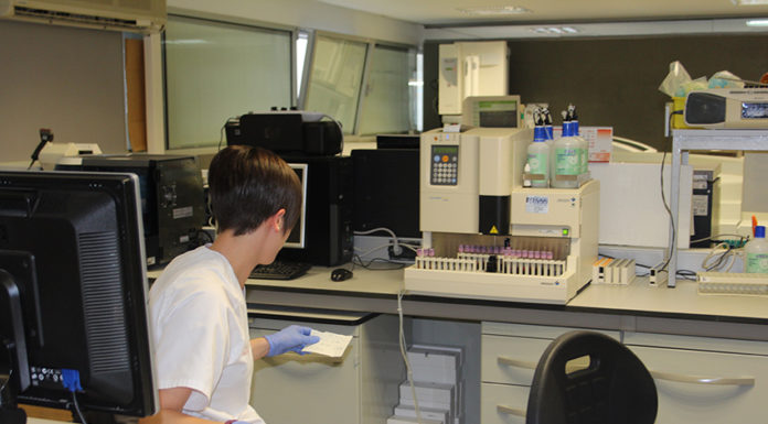 test laboratorio hospital