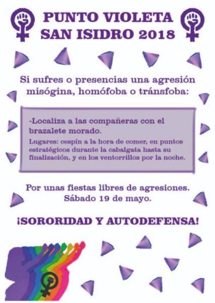 brazalete violeta punto violeta yecla san isidro feminismo