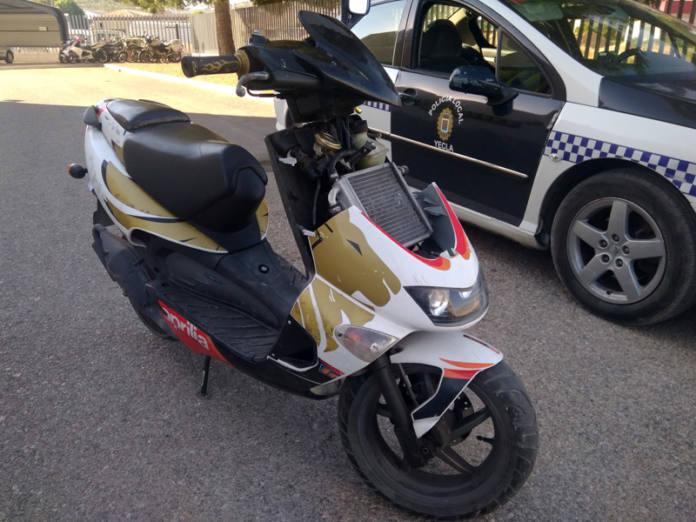 moto robada menor