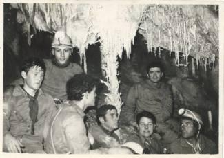 Cueva en la Sierra del Puerto, Calasparra, 1969