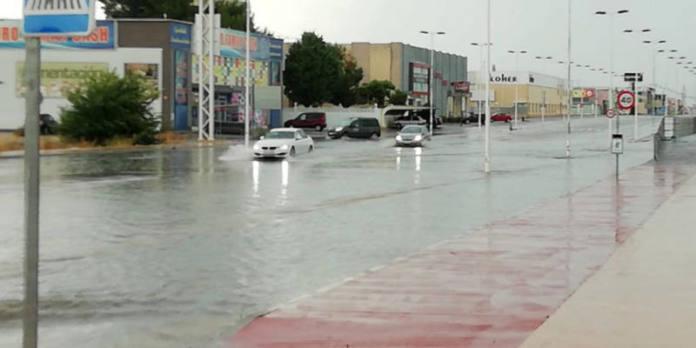 inundaciones carretera de villena