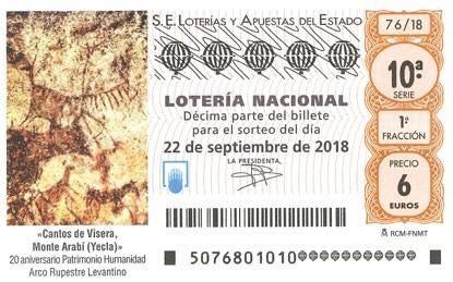 lotería nacional arabí pinturas rupestres