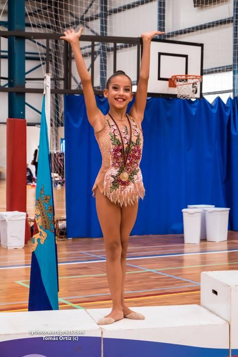 Cayetana Muñoz gimnasia rítmica de yecla podio histórico