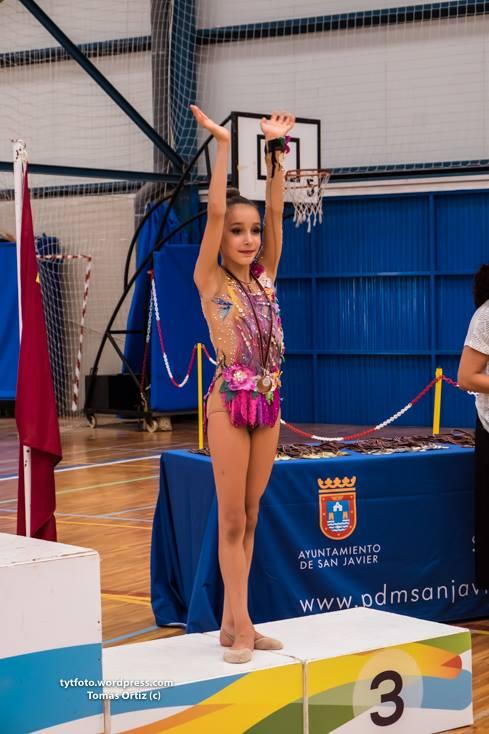 Alejandra Ortuño gimnasia rítmica de yecla podio histórico
