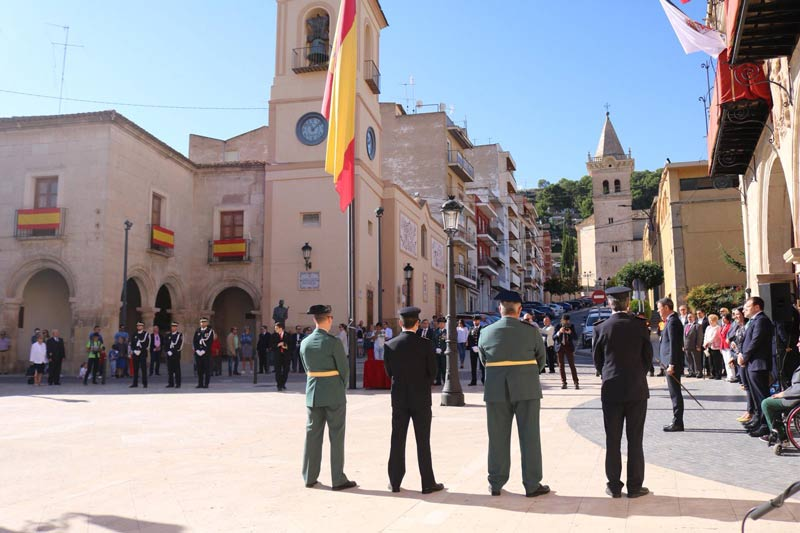 homenaje bandera españa yecla