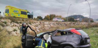 accidente coche ronda norte