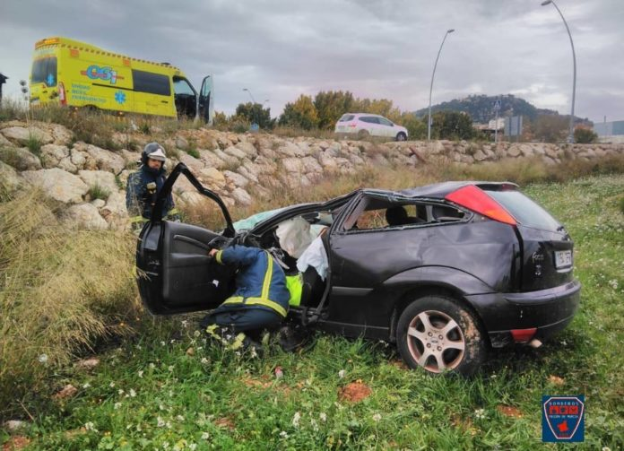 accidente coche ronda norte