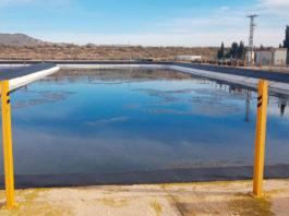 laguna en la depuradora de yecla agua