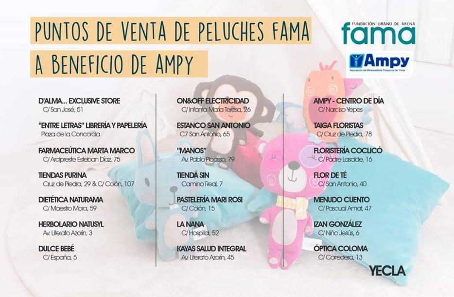fama campaña peluches ampy