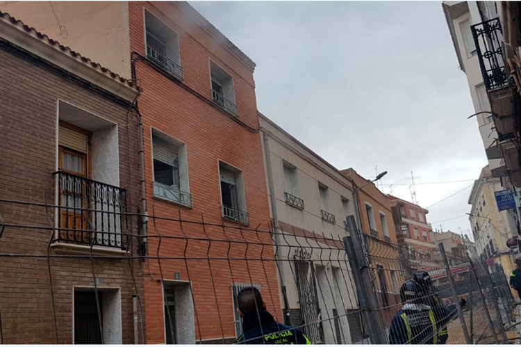 incendio en una casa de la calle santa bárbara