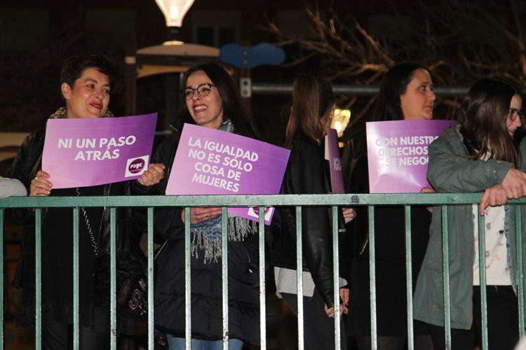 manifestación a favor de las mujeres 8M