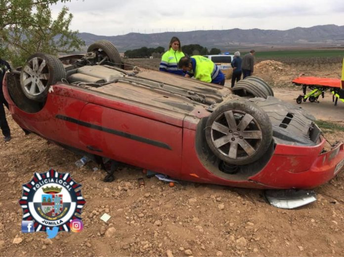 accidente en la carretera del ardal
