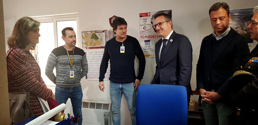 visita de la secretaria de estado de seguridad