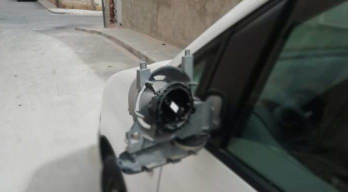 vandalismo san vicente retrovisores