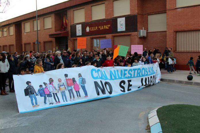 concentración colegio la paz protestas