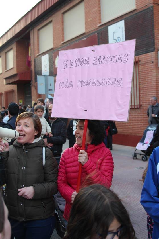 protesta colegio la paz