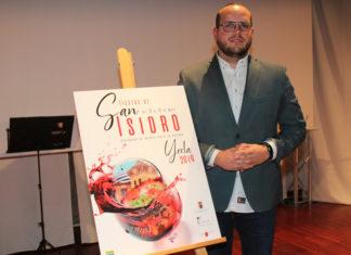 adrian soriano y el cartel anunciador de las fiestas de san isidro 2019