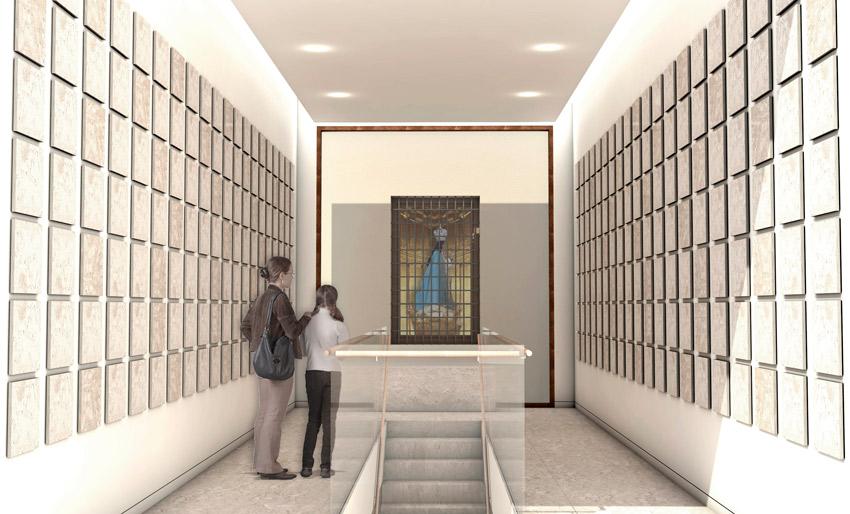 imagen 3d del columbario