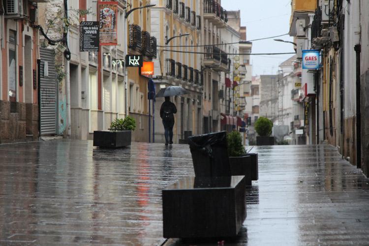 lluvias calles de yecla