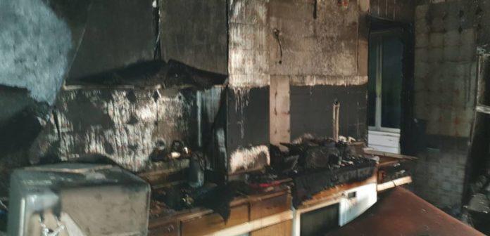 incendio cocina cuatro heridos