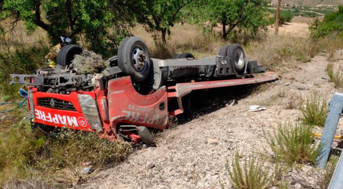 accidente grúa en la nacional 344