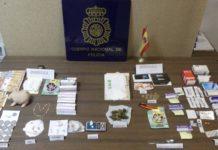 altar venta de droga policía