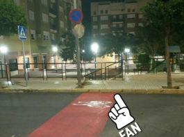 carril bici avenida libertad bordillo