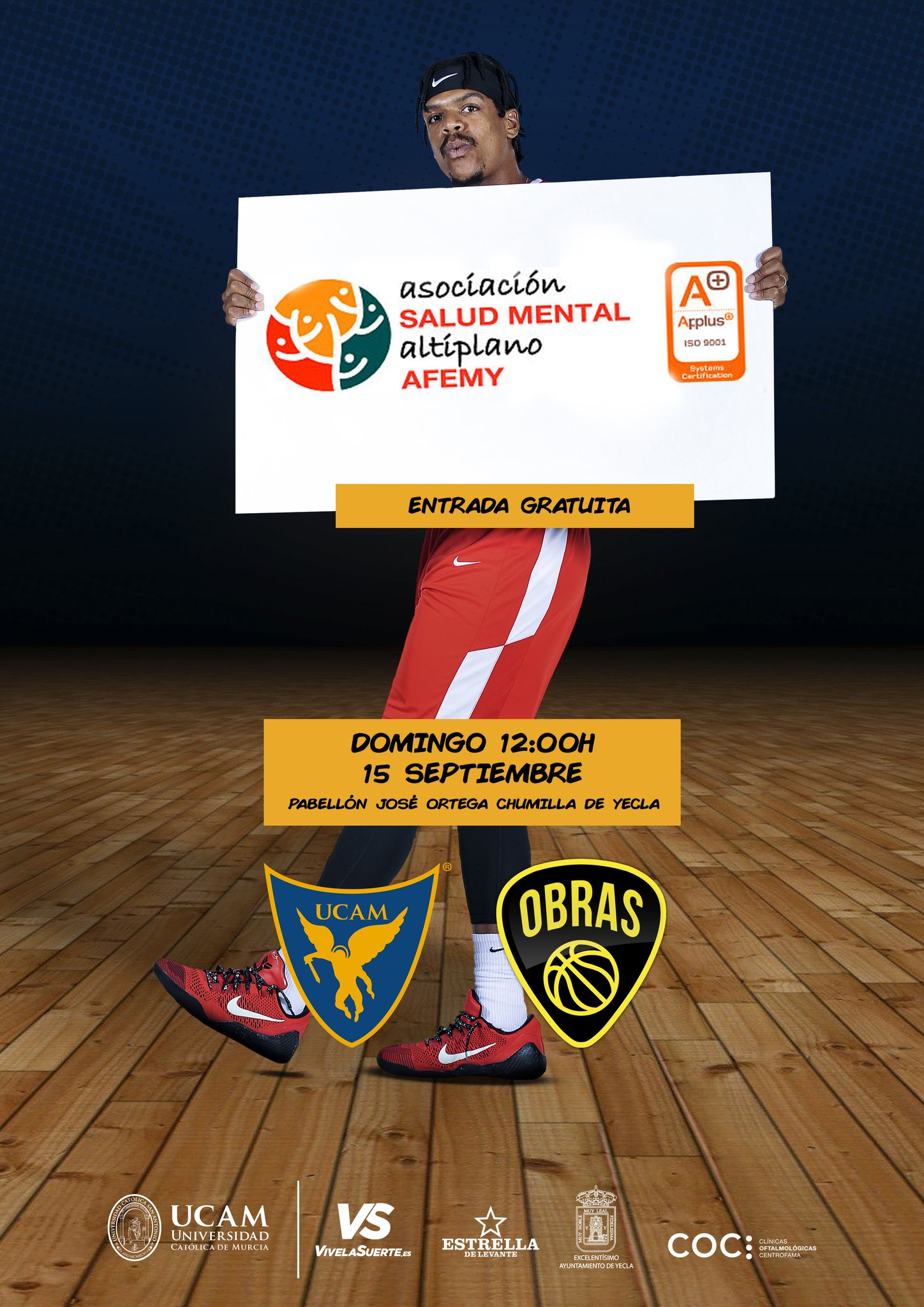 ucam murcia obras sanitarias argentina baloncesto feria