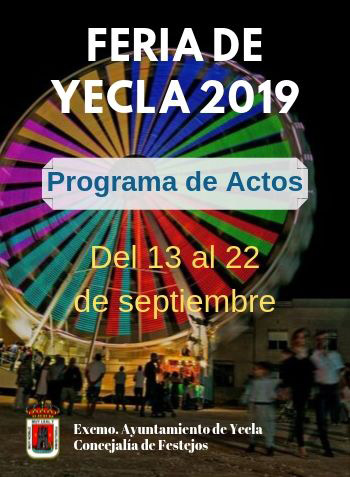 cartel de la feria de Yecla 2019