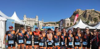 triatletas club triatlón arabí yecla